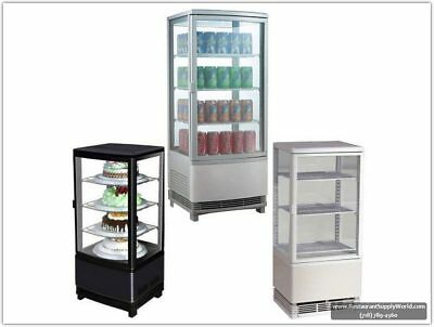 Marchia MDC78 Counter Top Square Refrigerated Glass Display Case, Black, 110v