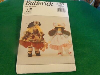 Butterick Ginger Snap Junction Craft Doll Pattern 3108