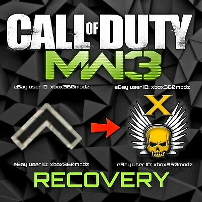 CALL OF DUTY Modern Warfare 3 MW3 Recovery | Account Mod - Xbox 360 & Xbox  One