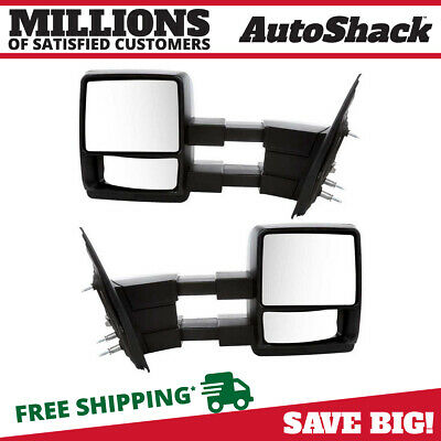 New Premium Pair of Black Side Mirrors Left anf Right for 2004 - 2014 Ford F-150