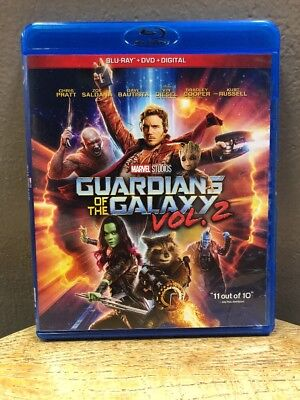Marvel Guardians of the Galaxy Vol. 2 (Blu-ray + DVD + Digital HD, 2017)