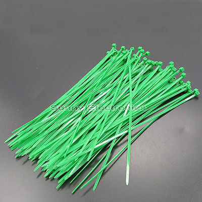 """1000 PCS 6 INCH NYLON ZIP CABLE TIES WIRE TIE WRAPS GREEN 18 LBS cable tie 6"""""""