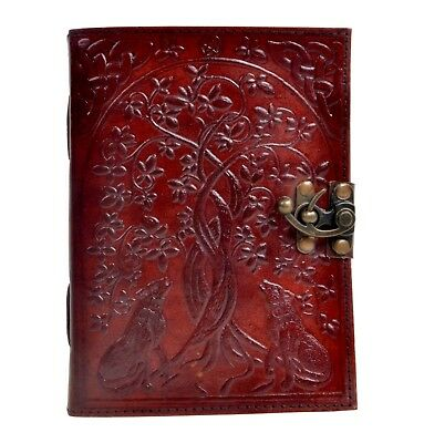 New  Wolf Into The Tree Leather Journal Sketchbook Leather Notebook 7x10