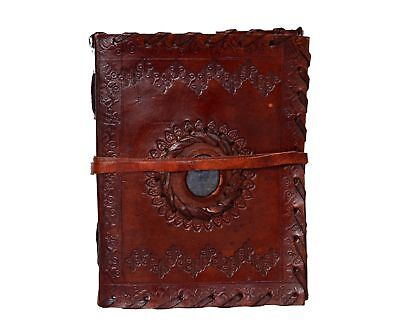 Celtic Vintage Trade Large Stitched And Stone Leather Journal Diary 6x8