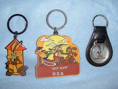 Roadrunner Key Chains   Set Of 3    Looney Tunes  Plymouth