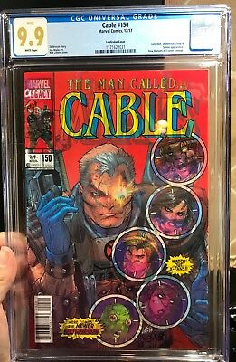 Marvel Marvel Cable #150 Cgc 9.9 Variant! Mint! Not 9.8! First App Cable Cover!