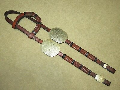 HIGH QUALITY Vintage Western Headstall Bridle-Braided Accents & GORGEOUS SILVER