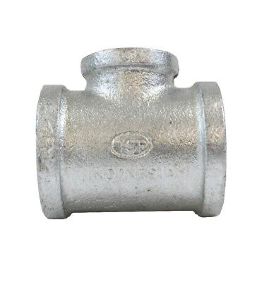 "1-1/4"" Galvanized Malleable Iron Pipe Threaded Tee Fitting- Pack of 10"