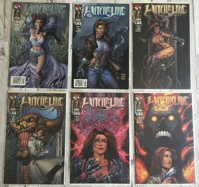 WITCHBLADE LOT 6 Comic Books 4/6 Of The Comics Are Packaged #s 42 43 45 46 47 48