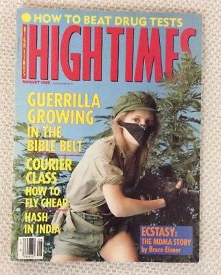 High Times Magazine August 1988 How to Beat Drug Tests Excellent Copy BB