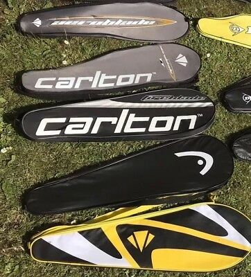 Dunlop Carlton Head various Squash Racket Covers