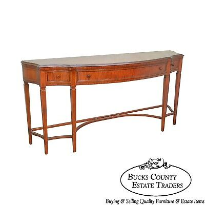 Regency Style 1930s Inlaid Satin Wood Console Sideboard