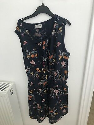 Next Girls Floral Short Playsuit Age 12 Yeas