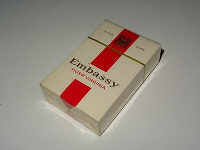 Paquet De Cigarettes Embassy Tabac Tobacco Plein Ancien Pack Tabac Blister
