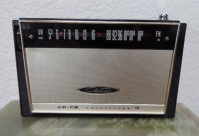 Marvel AM-FM 9FM-38 transistor radio works vintage 1964 Japan