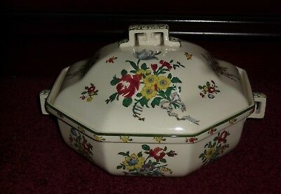 Royal Doulton Old Leeds Sprays Vegetable Tureen With Lid D3548
