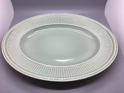 "Wedgwood Queens Ware Edme Green Serving Platter / Plate (Approx 14"")."