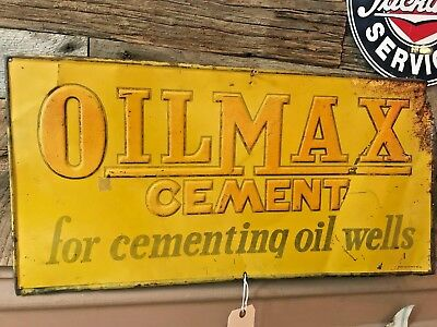 vintage oilmax cement sign, gulf,sinclair conoco shell