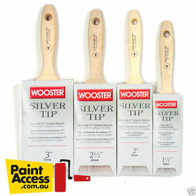 Paint Brush/ Pack of 4 Wooster SILVER TIP® Varnish Style Brushes- 38, 50,63,75mm