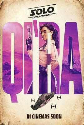 SOLO A STAR WARS STORY MOVIE POSTER 2 Sided ORIGINAL INTL 27x40 QI'RA
