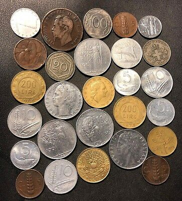 OLD ITALY COIN LOT - 1867-PreEuro - 27 Excellent Coins - Lot #619