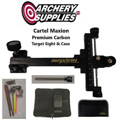 Cartel Maxion Premium Carbon Target Sight w/ Case