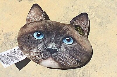 Ragdoll Cat Face Pillow by Plush Expressions