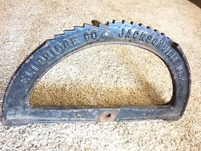 Big Eli Bridge Co Ferris Wheel Architectural Salvage Nameplate Gear Steampunk