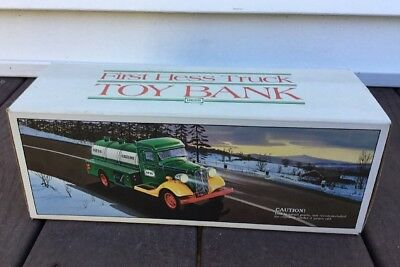 1980s Hess Toy Truck Bank MADE IN HONG KONG Brand new never taken out of box