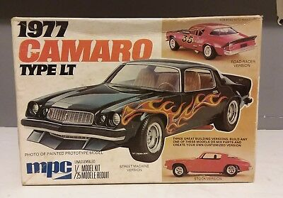Vintage Mpc 1977 Camaro Type Lt Model Car Kit 1/25