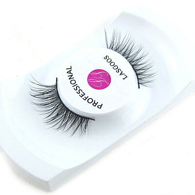 LASGOOS Real Mink Corner Half Size False Eyelashes Daily Life Fake Eye Lashes