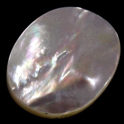 Natural Mother Of Pearl Shell White Oval Cabochon Gemstone 18.10Cts