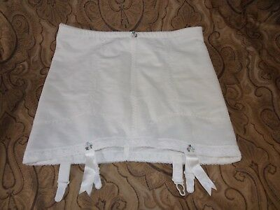 Vintage Subtract Open Leg Girdle with 4 Garters & satin ribbons size 38