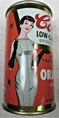 Cott Orange Soda can 12 oz 1950's-60's Manchester,NH. flat top.Free Shipping