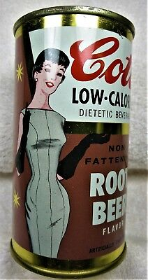 Cott Root Beer Soda can 12 oz 1950's-60's Manchester,NH. flat top.Free Shipping