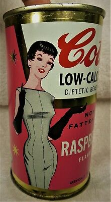 Cott Raspberry Soda can 12 oz 1950's-60's Manchester,NH. flat top.Free Shipping