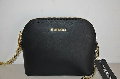 1dd88685d2 Nwt Steve Madden Bmaggie Dome Crossbody Bag Black Faux Leather Purse Tote