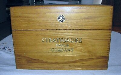 Vintage(?) Strathmore Paper Company Wooden Retail/Display Box