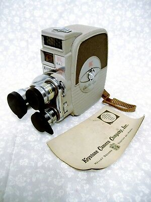 8mm FILM WORKING WIND-UP KEYSTONE KA-1 HOME MOVIE VIDEO CAMERA VTG COLLECTIBLE