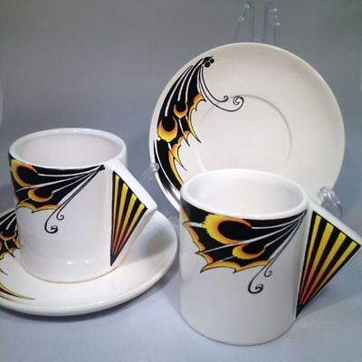 Butterfly-Wing Design Coffee Cups/Saucers x 4 (see our other listings)