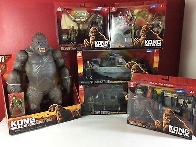 King Kong Skull Island Complete Figure Set of 6 New in Box Monsters & Vehicles