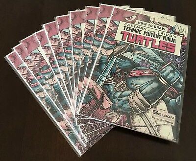 How To Draw Teenage Mutant Ninja Turtles #1 MFG Error Version! 10 Copies!! HTF!!