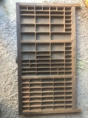 Vintage Printers Wooden Type Tray Drawer