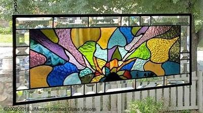 **COLORBURST** Stained Glass Window Panel(Signed and Dated)