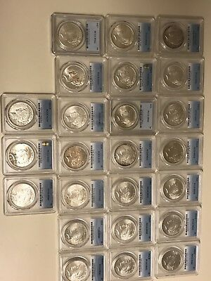 1921-1935 Complete Peace Dollar Set All PCGS MS61-64 Except 28 & 34 S AU55 LOOK!