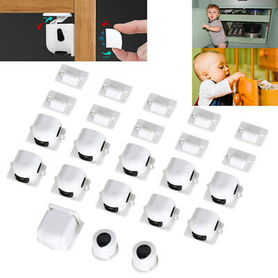 12X Magnetic Cabinet Drawer Cupboard Locks for Baby Kids Safety Child Proofing