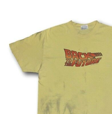 Vintage 80's 1985 BACK TO THE FUTURE Double Sided Graphic Tee T-Shirt XL Hanes