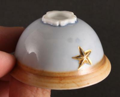 RARE Antique Japanese Military WW2 HELMET SHAPE LOYALTY BRAVERY army sake cup