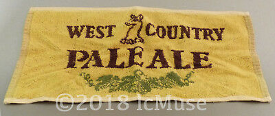 BAR PUB BEER TOWEL West Country Pale Ale - Vintage 70's - UK England RARE