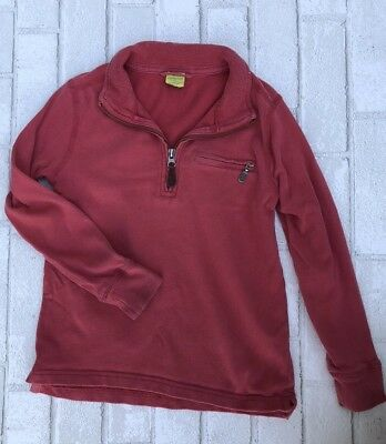 Crewcuts Boys Coral Colored 1/4 Zip Pull Over Sweatshirt SIze 6/7